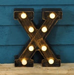 Letter X- Battery Operated Lumiere
